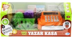 Turuncu Yazar Kasalı Market Seti - Thumbnail