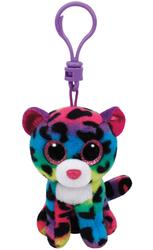 TY - TY Beanie Boo´s Dotty Renkli Leopar Peluş Anahtarlık