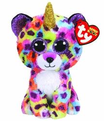 TY - Ty Beanie Boos-Giselle Gökkuşağı Unicorn Leopar 15 cm