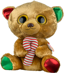 TY - Ty Bella - Brown Bear W/Candy Cane Large