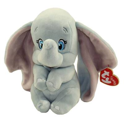 TY Sparkle Sesli Fil-Dumbo Peluş Anahtarlık