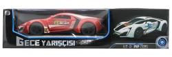 MEGA - U.K. Pilli Kırmızı Spor Araba Gece Yarışçısı 16811