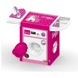 Dolu Oyuncak Fabrikasi - Unicorn Oyuncak Çamaşır Makinesi ve Ütü Seti Sesli Pembe
