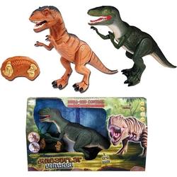 Sunman - Uzaktan Kumandalı Oyuncak Dinozor Sesli ve Işıklı Hareketli Titreşimli 46 Cm