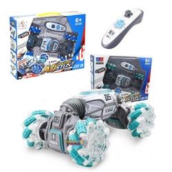 Gepet Toys - Uzaktan Kumandalı Şarjlı Çapraz Gidebilen Akrobat Çift Yönlü Drift Aracı Led Işıklı