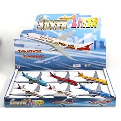 Vardem Oyuncak - Vardem Açık 19 cm Metal Çek Bırak Kapıları Açılan Yolcu Uçağı