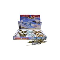 Vardem Oyuncak - Vardem Açık 20 cm Metal Çek Bırak Savaş Uçağı