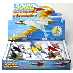 Vardem Oyuncak - Vardem Açık 20 cm Pilli Sesli Işıklı Metal Çek Bırak Savaş Uçağı
