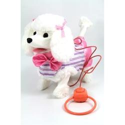Vardem Oyuncak - Vardem Kablo Kumandalı Pilli Peluş Yürüyen Kuyruk Sallayan Havlayan Fino Köpeği 35 cm Beyaz