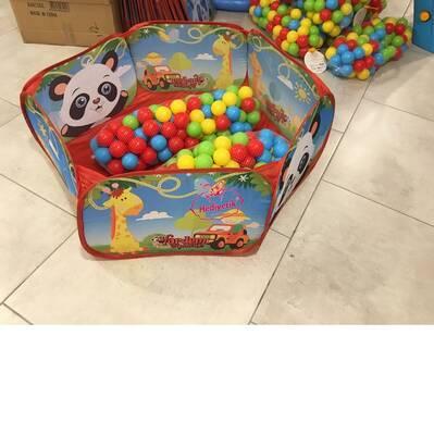Vardem Katlanabilir Çocuk Oyun Parkı Top Havuzu 200 Adet Top Renkli