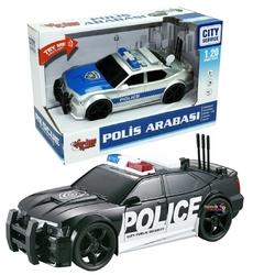 Vardem Oyuncak - Vardem Miajima 1:20 Sürtmeli Sesli Işıklı Oyuncak Polis Arabası