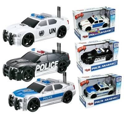 Vardem Miajima 1:20 Sürtmeli Sesli Işıklı Oyuncak Polis Arabası