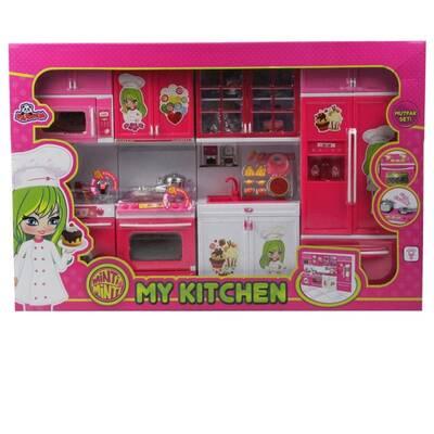 Vardem Modern 4 Lü Oyuncak Mutfak Seti Sesli Işıklı Minti Minti