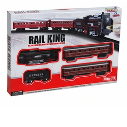 Vardem Oyuncak - Vardem Oyuncak 18 Parça Klasik Ekspres Tren Set (Rail King)