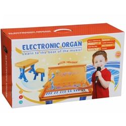 Vardem Oyuncak - Vardem Oyuncak Çocuk Tabureli Masa ve Elektronik Org Mavi