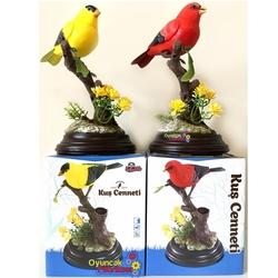 Vardem Oyuncak - Vardem Oyuncak Kuş Sesli Müzikli Sensörlü Hareketli Kalemlikli Kuş Cenneti