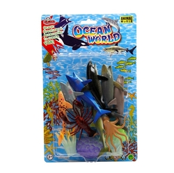 Vardem Oyuncak - Vardem Oyuncak Okyanus Deniz Hayvanları 12 Parça 4inch