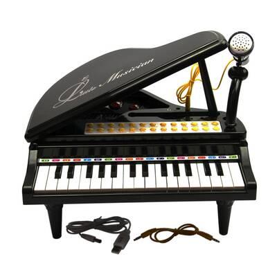 Vardem Oyuncak Ortaboy Piyano Işıklı 3 Asorti (Pembe,Siyah,Beyaz)