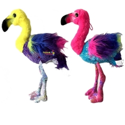 Vardem Oyuncak - Vardem Oyuncak Peluş Gökkuşağı Flamingo 50 Cm