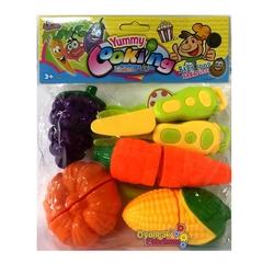 Vardem Oyuncak - Vardem Oyuncak Sebze Meyve Kesme Seti 7 Parça