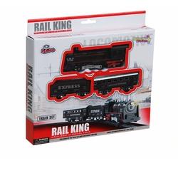 Vardem Oyuncak - Vardem Oyuncak Tren Seti 13 Parça Klasik Ekspres Kutulu Işıklı Rail King