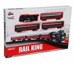 Vardem Oyuncak - Vardem Oyuncak Tren Seti Klasik Ekspres 21 Parça Kırmızı Renkli