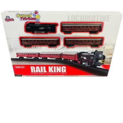 Vardem Oyuncak Tren Seti Klasik Ekspres 21 Parça Kırmızı Renkli