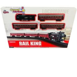 Vardem Oyuncak Tren Seti Klasik Ekspres 21 Parça Kırmızı Renkli - Thumbnail