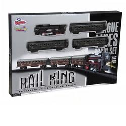 Vardem Oyuncak - Vardem Oyuncak Tren Seti Klasik Ekspres 21 Parça Siyah Renkli (Rail King)