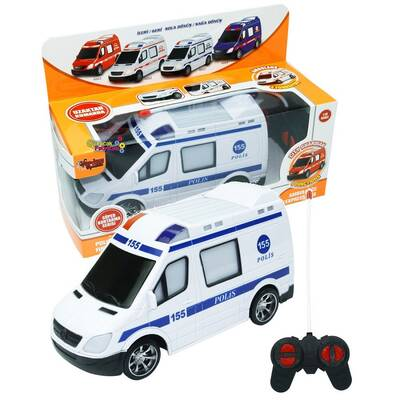 Vardem Oyuncak Uzaktan Kumandalı Full Foksiyon Polis Arabası Işıklı