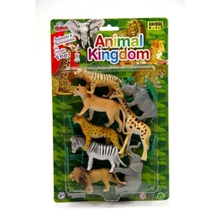Vardem Oyuncak - Vardem Oyuncak Vahşi Hayvan Seti 12 Parça 4 inch