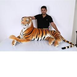 Vardem Oyuncak - Vardem Peluş 158 cm Yatan Kahverengi Kaplan
