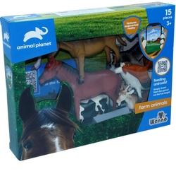 Vardem Oyuncak - Wenno Oyuncak Çiftlik Hayvan Seti 15 Parça Mobil Uygulamalı