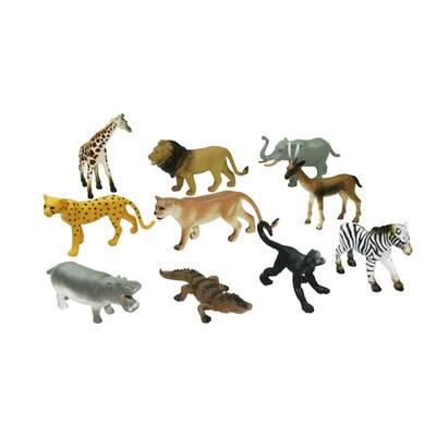 Wenno Oyuncak Hayvan Figürü Çiftlik, Vahşi, Dinazor, Okyanus 10 Parça Mobil Uygulamalı