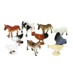 Wenno Oyuncak Hayvan Figürü Çiftlik, Vahşi, Dinazor, Okyanus 10 Parça Mobil Uygulamalı - Thumbnail