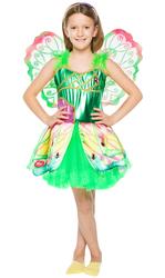 WINX - Winx Flora Kostüm 4-6 Yaş