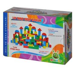 Woodoy-Karsan Ahşap - Woodoy Eğitici Ahşap Bloklar 100 Parça