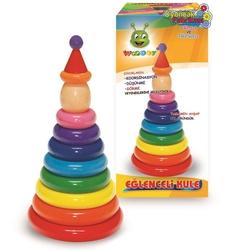 Woodoy-Karsan Ahşap - Woodoy Eğitici Ahşap Eğlenceli Kule 12 Parça