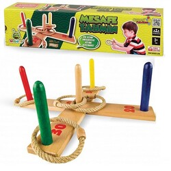 Woodoy-Karsan Ahşap - Woodoy Eğitici Ahşap Oyuncak Mesafe Tahmin Oyunu Halka İp Atma