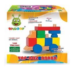 Woodoy-Karsan Ahşap - Woodoy Eğitici Oyuncak Ahşap Yapboz Araba