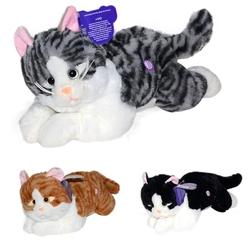 Birlik Oyuncak - Yatan Miyavlayan Oyuncak Peluş Kedi