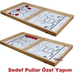 Yenigün Tavla - Yenigün Ahşap Sling Puck Hızlı Sapan Oyunu Parlak Cilalı Yüzey 64 x34