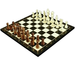 Yenigün Tavla - Yenigün Ceviz Satranç Takımı 37 cm x 37 cm 1.2 Cm