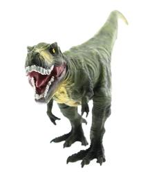 MEGA - Yumuşak Plastik 31 cm Dinozor Figür - Yeşil T-Rex
