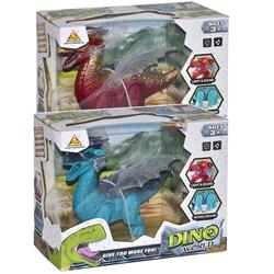 Can-em Oyuncak - Yürüyen Büyük Oyuncak Dinozor Kanatlı Sesli Işıklı Hareketli 26 Cm